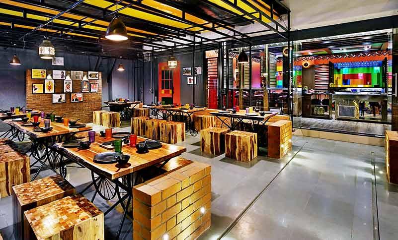 Eco Themed Restaurant Furniture Project By FurnitureRoots Oren Foods Restaurant, Vadodra 1