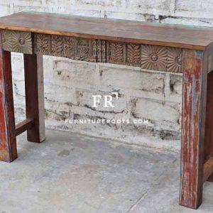 Carved Console Table – Hotel & Resort Lobby Consoles   FurnitureRoots