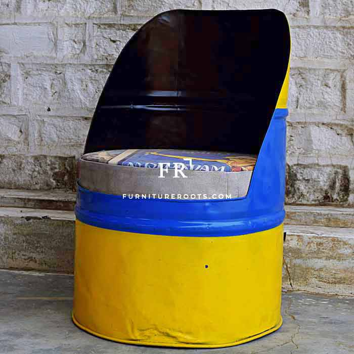 Old Drum Recycled Multicolored Chair