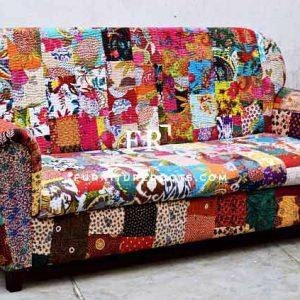 Traditional Indian Print Sofa