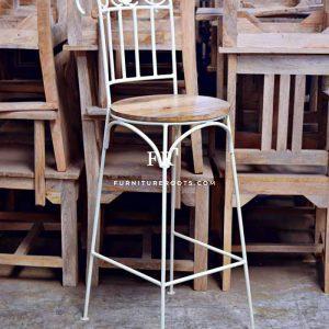 Bent Metal Colonial Bar Chair