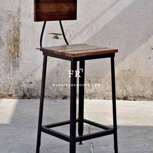 Retro Full-Back Bar Stool – Commercial Bar & Pub Stools | FurnitureRoots
