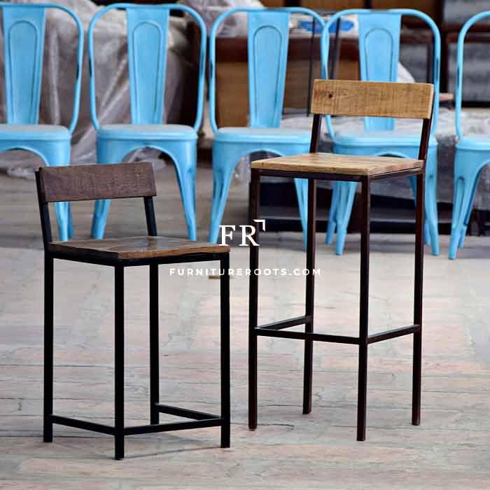 Bauhaus Combo Bar Chair – Minimalistic Bar Chairs | FurnitureRoots