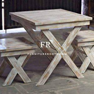 White Bistro Tables & Chairs – Distressed Bistro & Cafe Furniture | FurnitureRoots