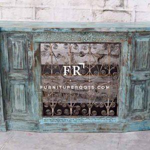 Distressed Wine Cabinet – Hand-Painted Lounge & Bar Wine Racks | FurnitureRoots