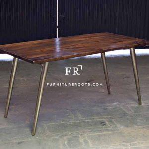 Nickel-Plated Commercial Table – Designer Tables | FurnitureRoots