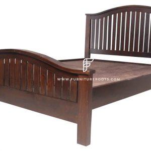 Natural Wood Hotel Room Bed